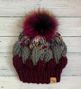 The Bubble Beret (Smalls): Burgundy Carnival
