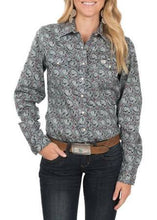 Load image into Gallery viewer, Cinch Women's Blue Paisley Western Shirt