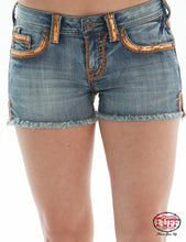 Load image into Gallery viewer, Cowgirl Tuff Gold Dust Shorts