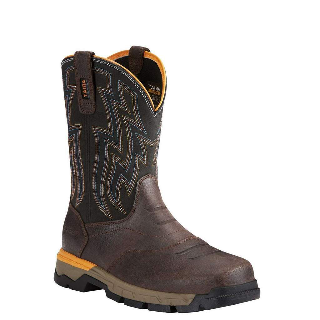 Ariat Men's Rebar Flex Western Chocolate Composite Toe Boots