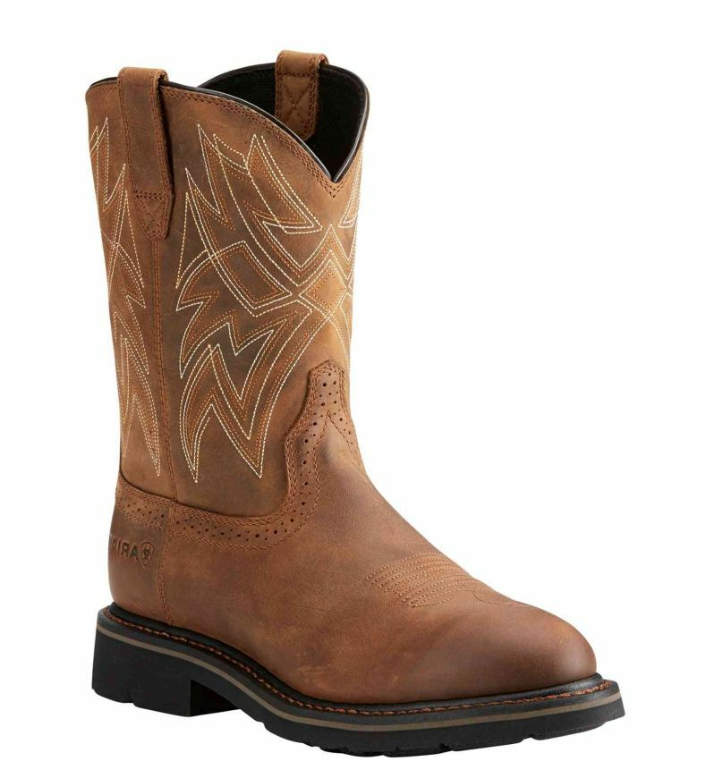 Ariat Men's Sierra Everett Distressed Brown Work Boots
