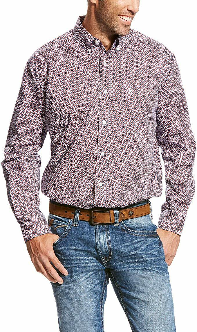 Ariat Men's Classic Fit Long Sleeve Print Western Shirt