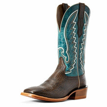 Load image into Gallery viewer, Ariat Men's Blue Top Station Square Toe Western Boots