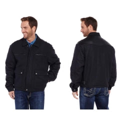 Cripple Creek Men's Wool Black Melton Jacket (Free Shipping on Orders Over $120.00)