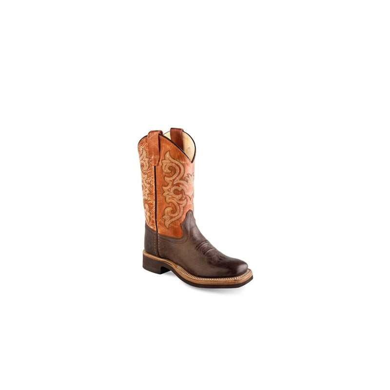 Old West Kids Broad Square Toe Cowboy Boot