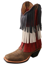 Load image into Gallery viewer, Twisted X Women's Ruff Stock Boot – Bomber/Red, White, & Blue (Free Shipping on orders over $120.00)