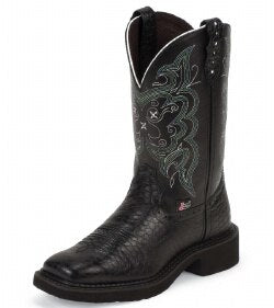 Justin Gypsy Ladies Boots  with Black Pearl Print (Free Shipping on orders over $120.00)