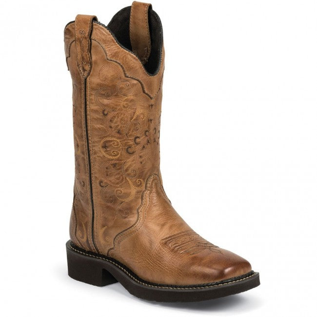 Justin Women's Caramel Brown 12
