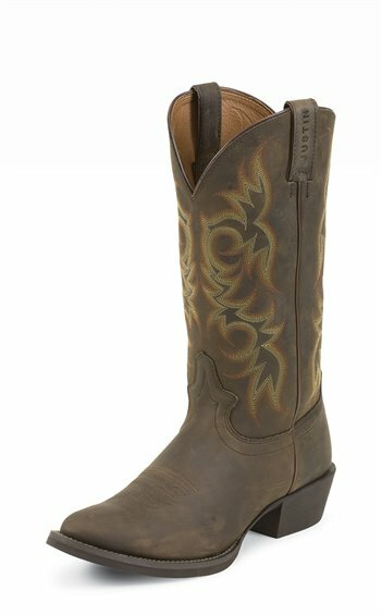 Justin Men's Brown Classic Stampede Cowboy Boots (Free Shipping)