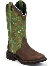 Load image into Gallery viewer, Justin Women's Gypsy Walnut Cowgirl Square Toe Boots (Free Shipping on orders over $120.00)