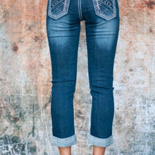 Load image into Gallery viewer, SALE - Petrol Women's Georgia Capris Jeans - Dark Wash