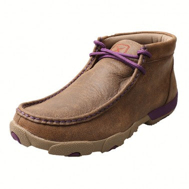 Twisted X Ladies Driving Mocs with Purple Accents