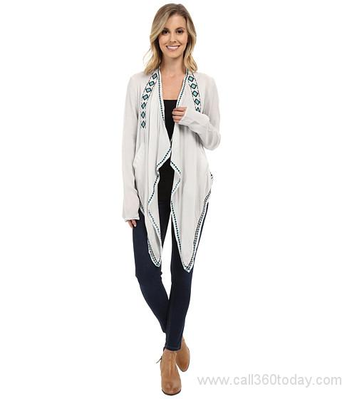 Rock and Roll Cowgirl Women's Silver Cardigan