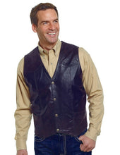 Load image into Gallery viewer, Cripple Creek Men's Antique Chocolate Leather Vest