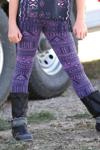 Load image into Gallery viewer, Cruel Girls' Kids Purple Aztec Print Leggings