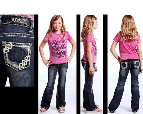 Rock & Roll Girl's Dark Vintage Jeans