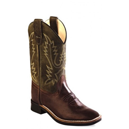 Old West Childrens Boy's Brown Boots