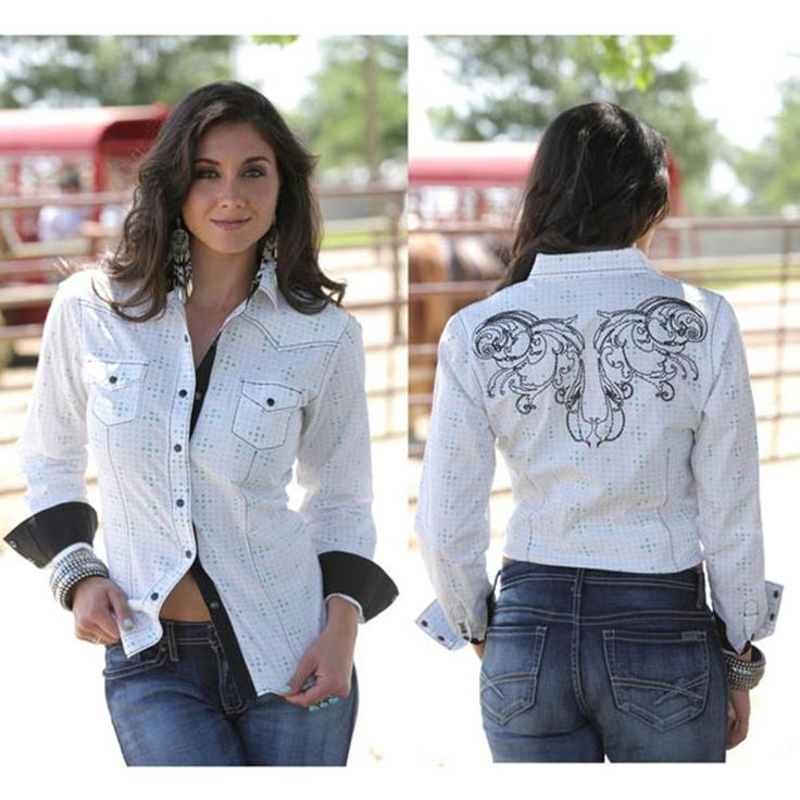 Cruel Girl Women's White Western Rodeo Barrel Arena Shirt