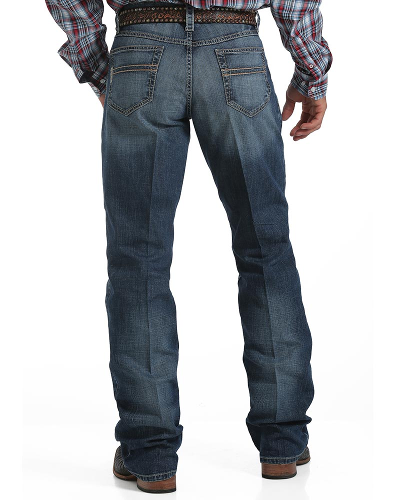 Cinch Carter 2.3 Performance Mid Rise Relaxed Fit Boot Cut Jeans - Medium Stonewash
