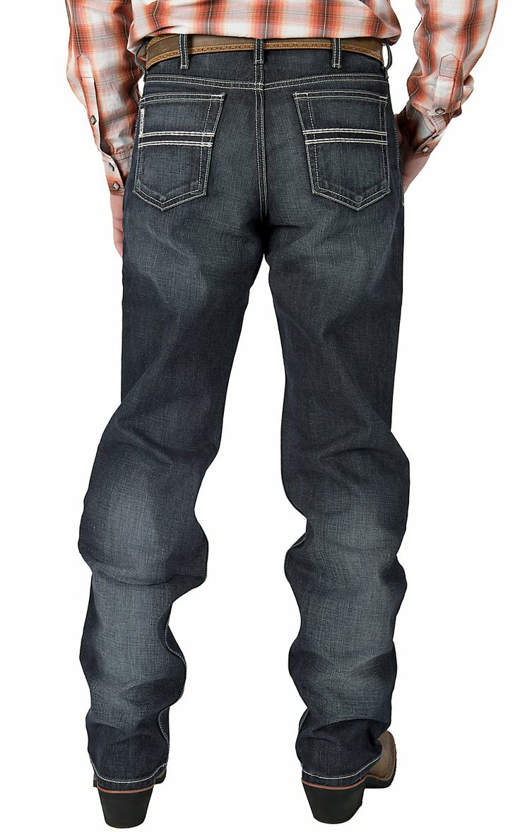 Cinch Men's White Label Dark Wash Relaxed Fit Jeans