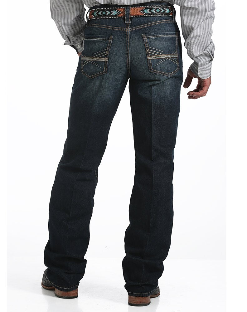Cinch Men's Grant Mid Rise Relaxed Boot Cut Dark Wash Jeans