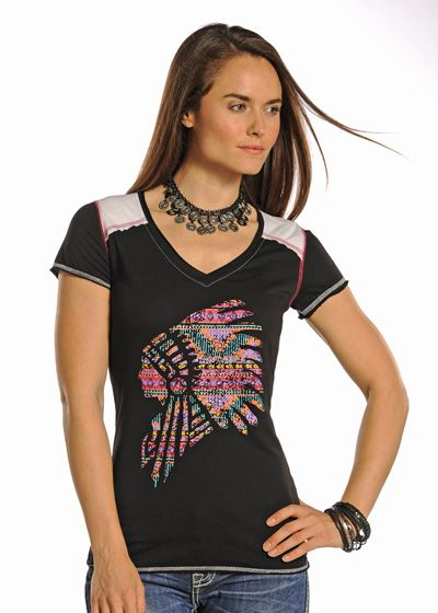 Panhandle Women's Native American Headdress Shirt