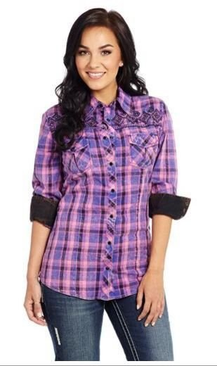 Cowgirl Up Women's Plaid Shirt