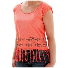 Load image into Gallery viewer, Cowgirl Tuff Women's Aztec Sleeveless Fringe Shirt
