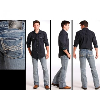 ROCK AND ROLL MEN'S COWBOY PISTOL JEANS