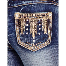 Load image into Gallery viewer, Cowgirl Up Women's Studded Midrise Bootcut Jeans