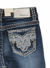 Load image into Gallery viewer, Grace In LA Bootcut, Paisley Pocket Girls Jeans