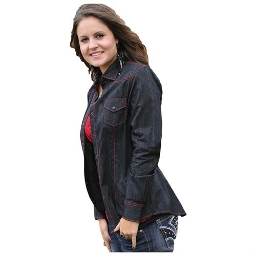 Cruel Girl Women's Western Stretch Poplin Shirt (Free Shipping)