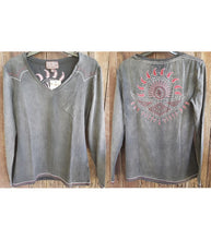 Load image into Gallery viewer, Cowgirl Up Women's Stonewash 2X Long Sleeve Shirt (Free Shipping)