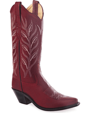 Load image into Gallery viewer, Old West Women's Cowboy Boots Snip Toe Leather