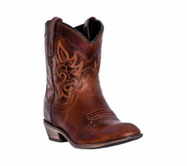 Dingo Women's Willie Brown Leather Ankle Western Boots