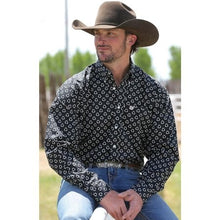 Load image into Gallery viewer, Cinch Men's Shark Bite Black L/S Western Shirt