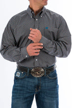 Load image into Gallery viewer, Cinch Men's Teal And Gray Medallion Western L/S Shirt