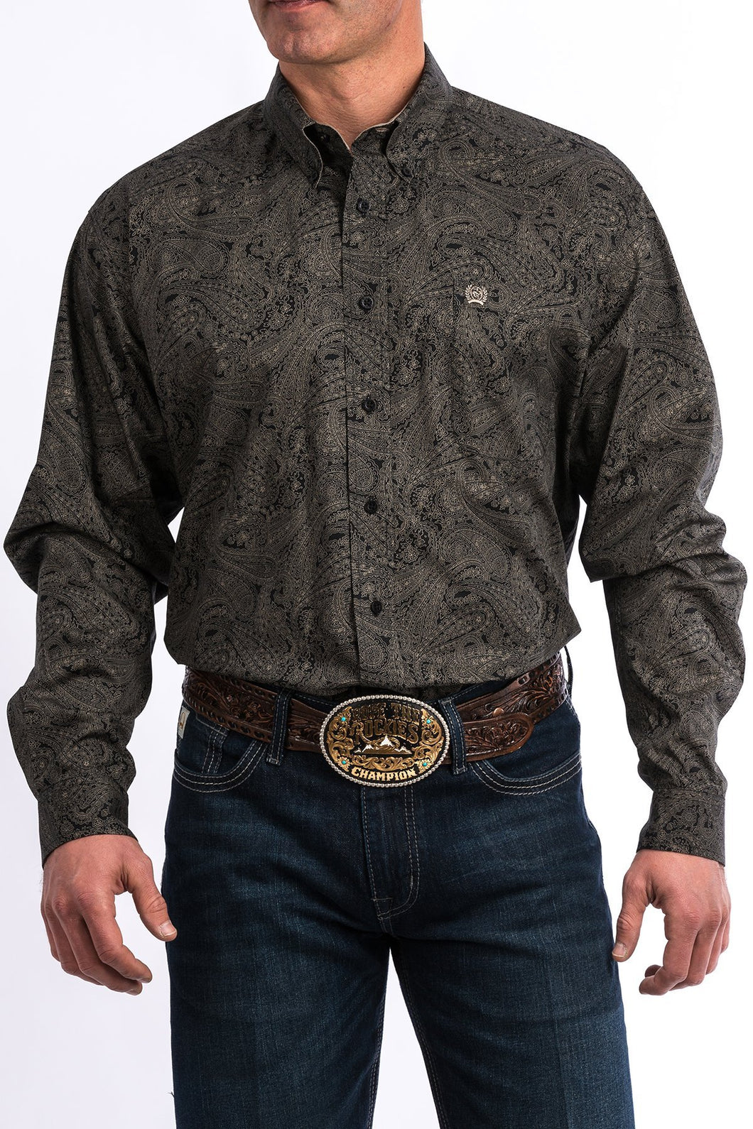 Cinch Men's Black Paisley Button Up Western Shirt