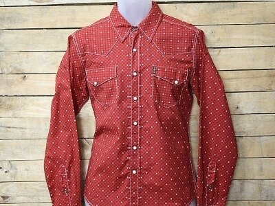 Cinch Men's Modern Fit Red Print Long Sleeve Snap Shirt