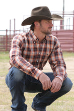 Load image into Gallery viewer, Cinch Men's Orange Plaid Long Sleeve Botton Up Western Shirt
