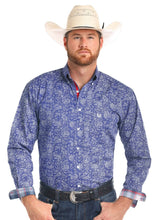 Load image into Gallery viewer, Panhandle Men's Sherbrooke Print Snap Western Shirt