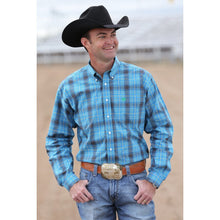 Load image into Gallery viewer, Cinch Blue And Green Plaid Western Shirt