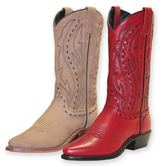Abilene Red Boots Hand Laced Accents