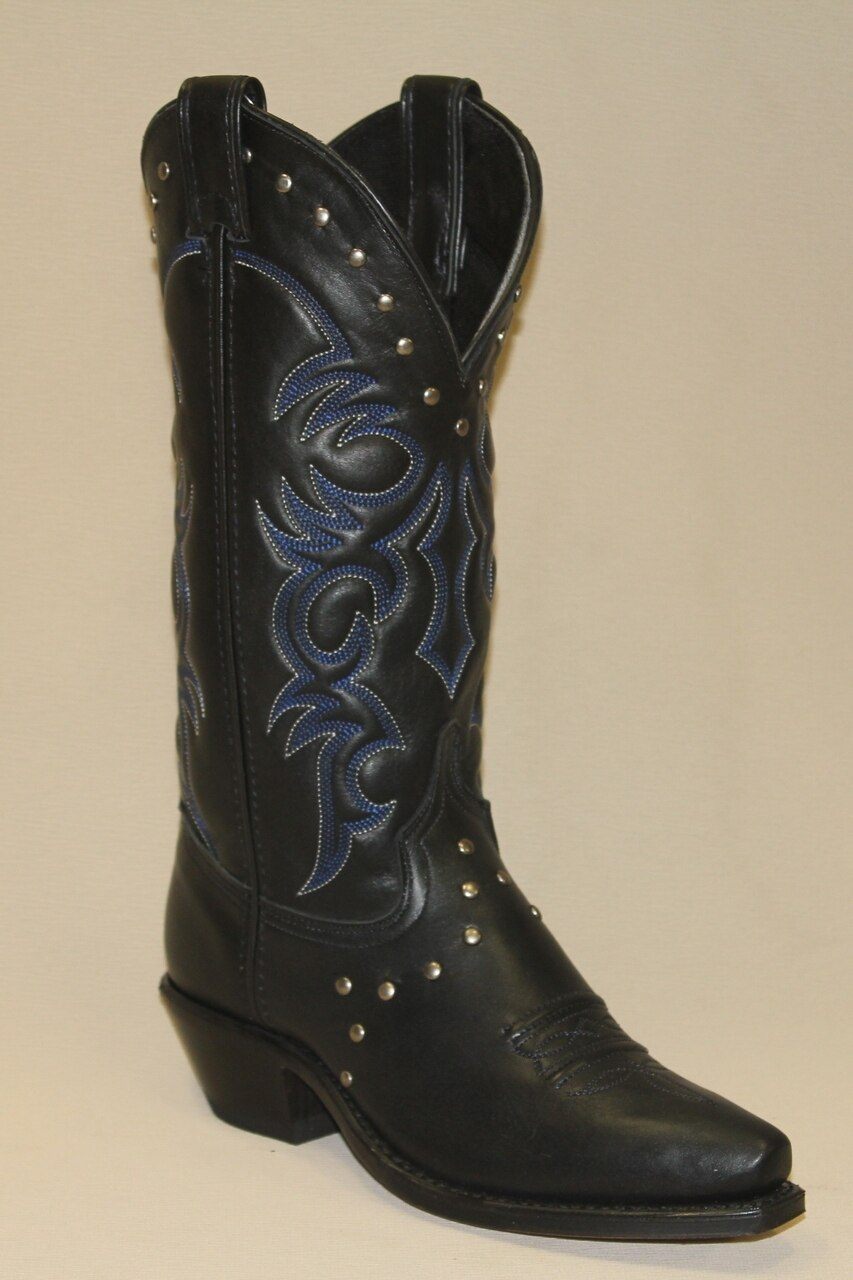 Abilene Black Western Boots - With Nailhead Accents