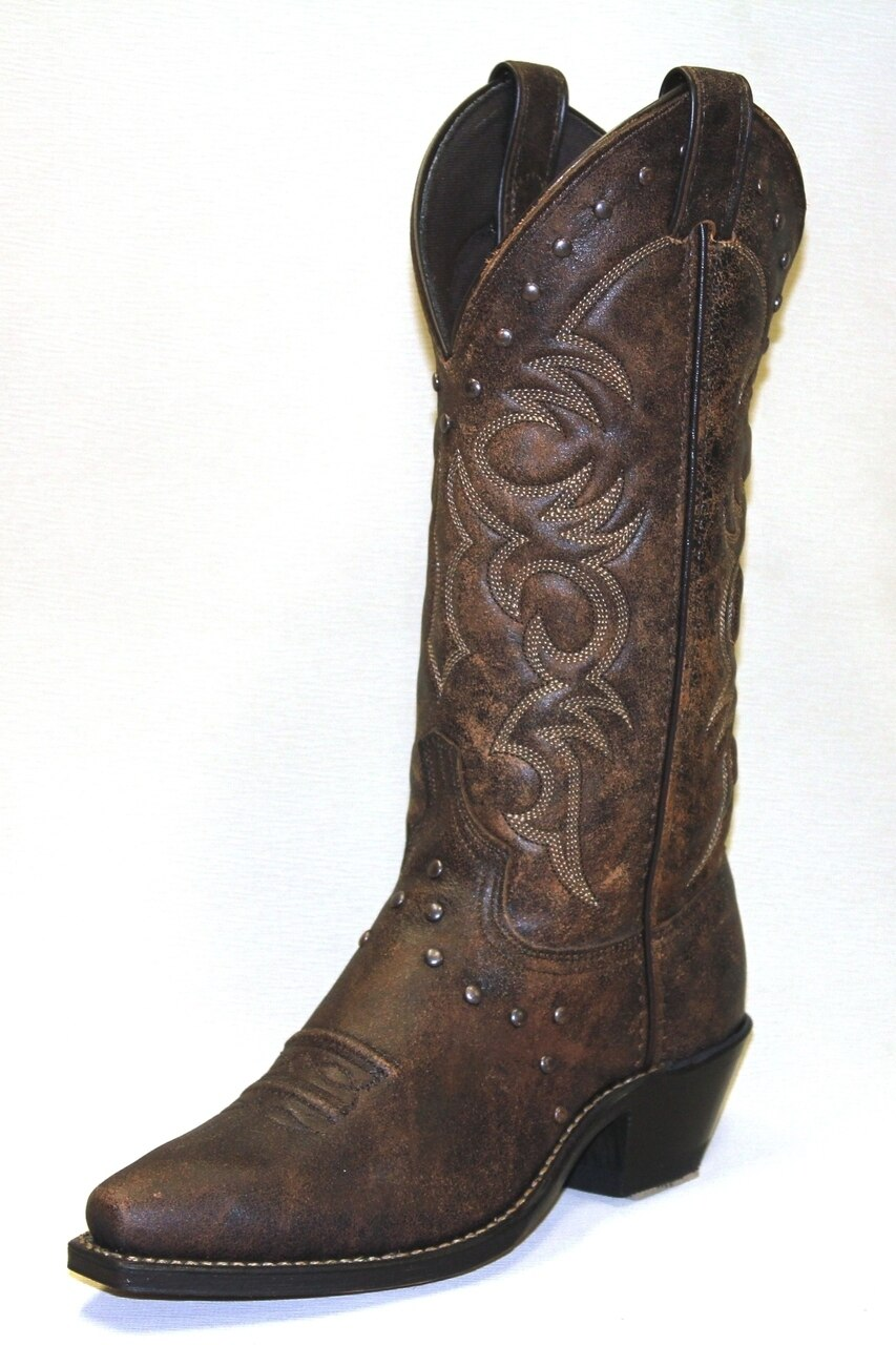 Abilene Women's Boots Brown With Nailhead Accents