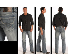Load image into Gallery viewer, Rock & Roll Cowboy Men's Light Wash Double Barrel Fit Boot Cut Jeans