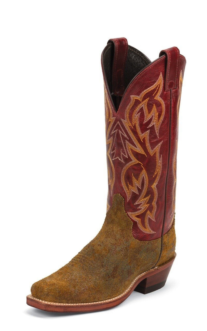 Justin Bent Rail Ladies Western Boots Burnt Copper (Free Shipping on orders over $120.00)