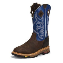 Load image into Gallery viewer, Justin Men's Roughneck Blue Work Boot (Free shipping)
