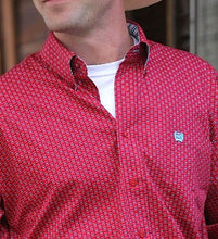 Load image into Gallery viewer, Cinch Men's  Red Weave Print Shirt (Free Shipping)