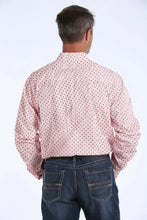Load image into Gallery viewer, Cinch Men's Pink Printed Button Down L/S Shirt